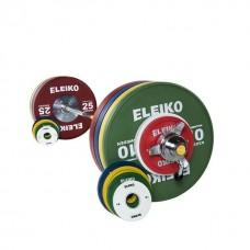 Олимпийская штанга в сборе Eleiko 3001239F для соревнований по тяжелой атлетике 185 кг цветная