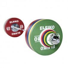Олимпийская тренировочная штанга в сборе Eleiko 3001238 190 кг цветная