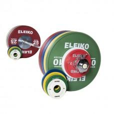 Олимпийская тренировочная штанга в сборе Eleiko 3001237 185 кг цветная