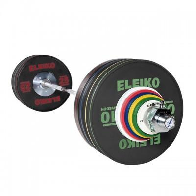 Олимпийская тренировочная штанга в сборе Eleiko 3001362 190 кг черная