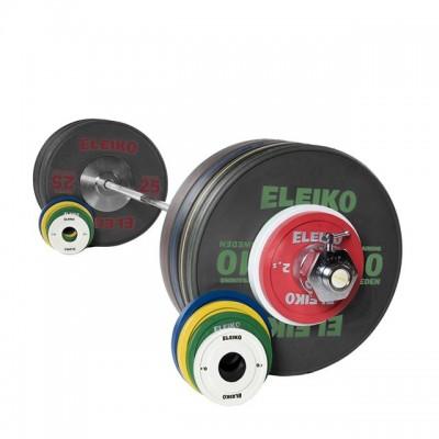 Олимпийская тренировочная штанга в сборе Eleiko 3001363 185 кг черная