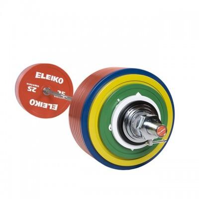 Штанга в сборе Eleiko 3001364 для соревнований по пауэрлифтингу 435 кг цветная
