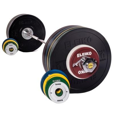Спортивная тренировочная штанга Eleiko 3002319 185 кг черная