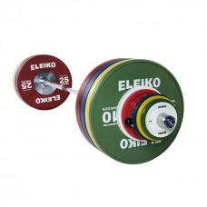 Олимпийская штанга в сборе Eleiko 3001240F для соревнований по тяжелой атлетике 190 кг цветная