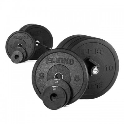 Штанга для кроссфита Eleiko 3002295 в сборе - 123 кг черная