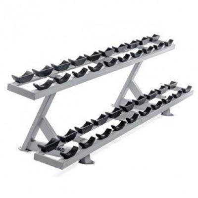 Двухуровневая стойка под гантели Eleiko 3002471-01 Pro, серебристая