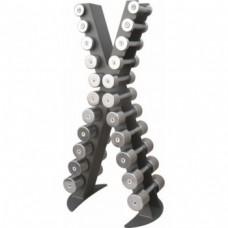 Стойка с набором гантелей хромированных (0,5 - 10 кг) Inter Atletika XR410