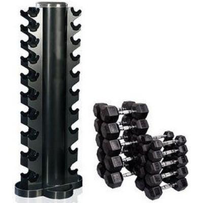 Гантельная стойка Tunturi на 10 пар от 1 до 10 кг, 14TUSCL200